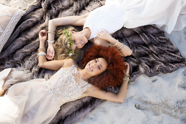 Boho beach wedding blanket