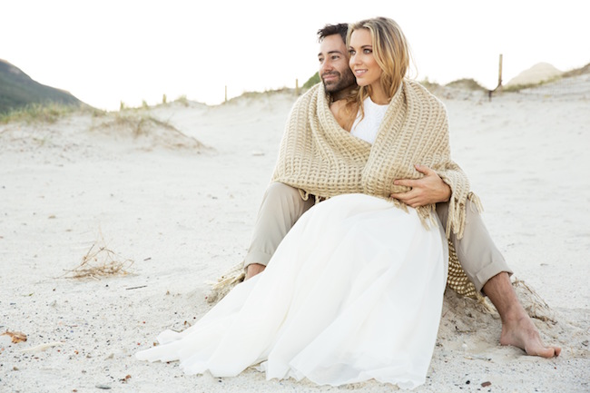 Boho beach wedding blankets