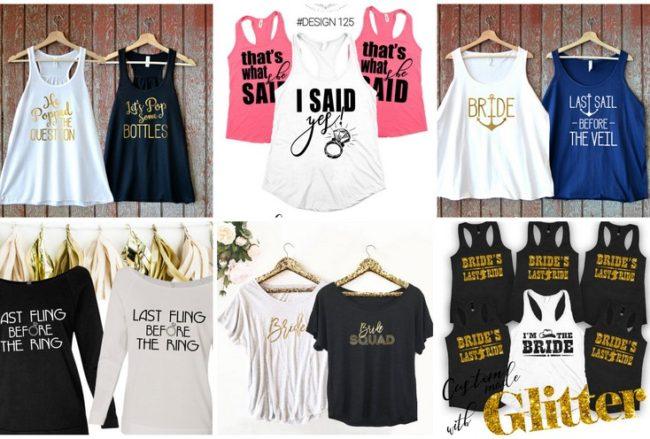 30+ Cutest Bridesmaid Shirts and Bridal Party T-Shirts Around!