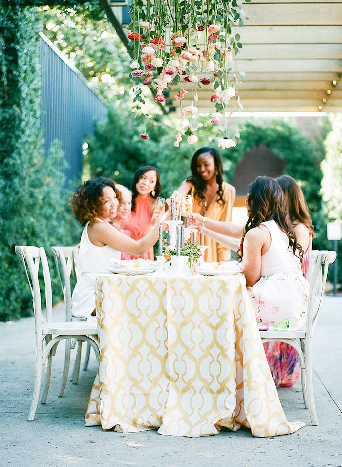 how to plan a gorgeous bridal luncheon for your bridesmaids