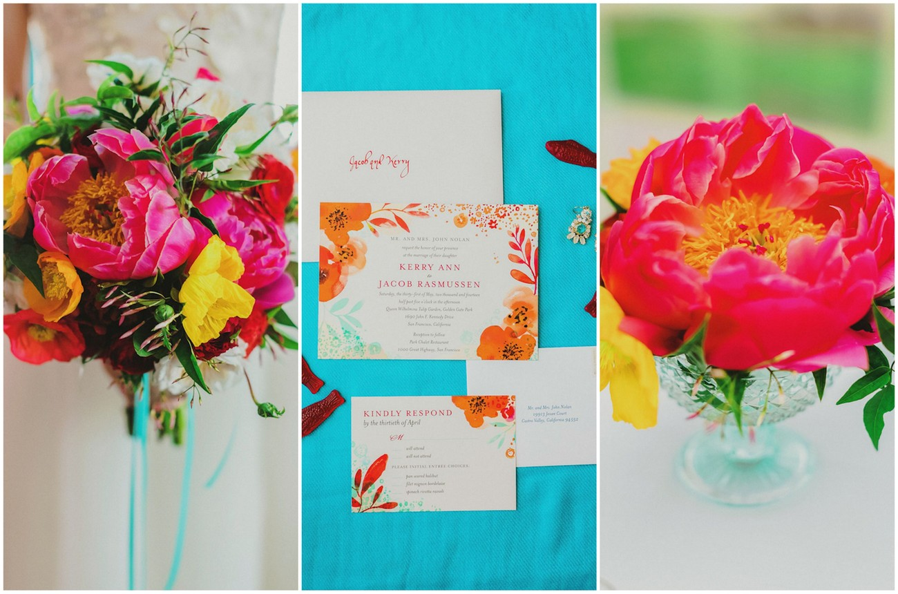 Bright + Colorful Golden Gate Garden Wedding {Milou + Olin Photography}