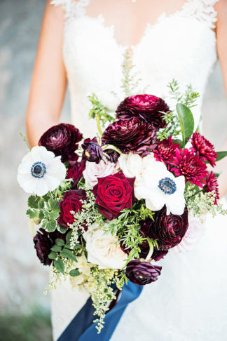 Burgundy red Navy Blue Wedding