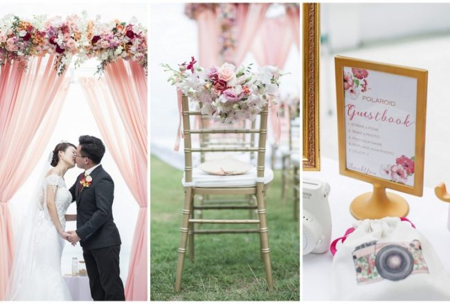 Exquisite Peach + Blush Cape Panwa Wedding in Phuket {Nopparat Photography}