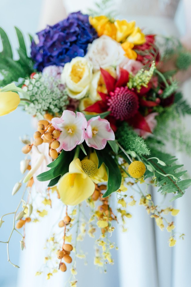 25 Cascade and Long Bridal Bouquets