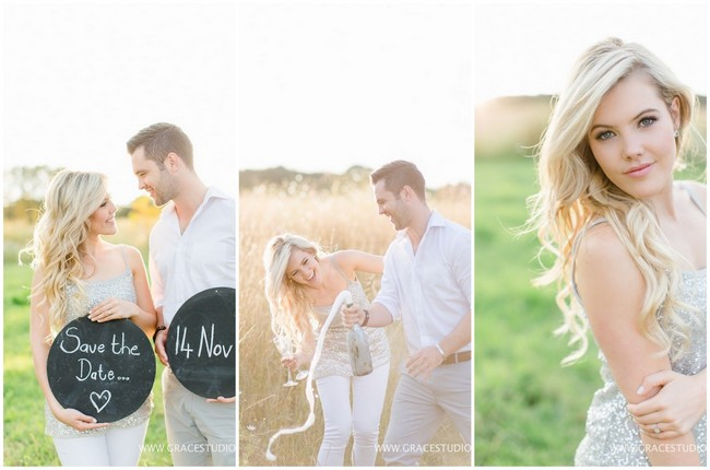 Dreamy Champagne Engagement Photographs {Grace Studios}