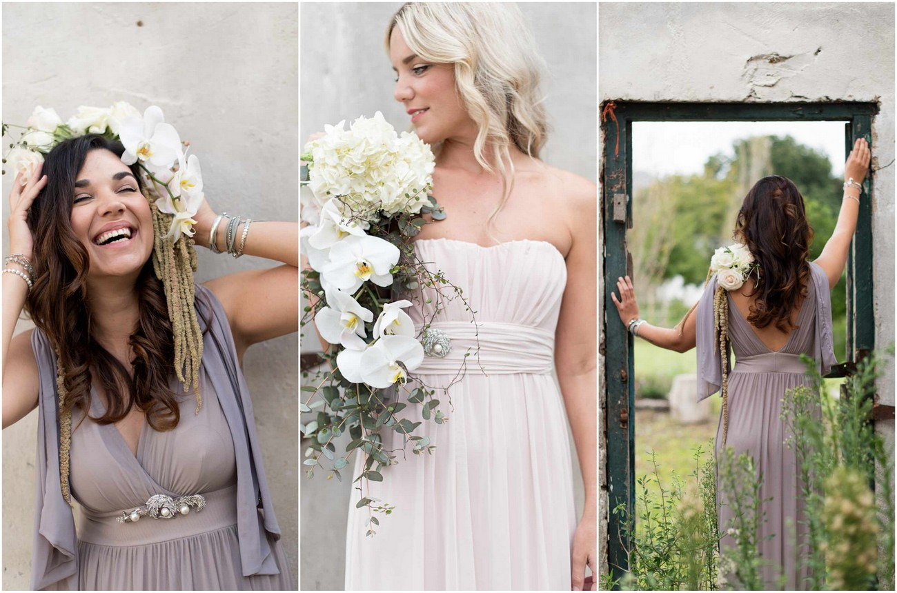 Gorgeously Chic Bohemian Bridesmaid Dresses and style ideas by Jacoba Clothing {Samantha Clifton Photography}