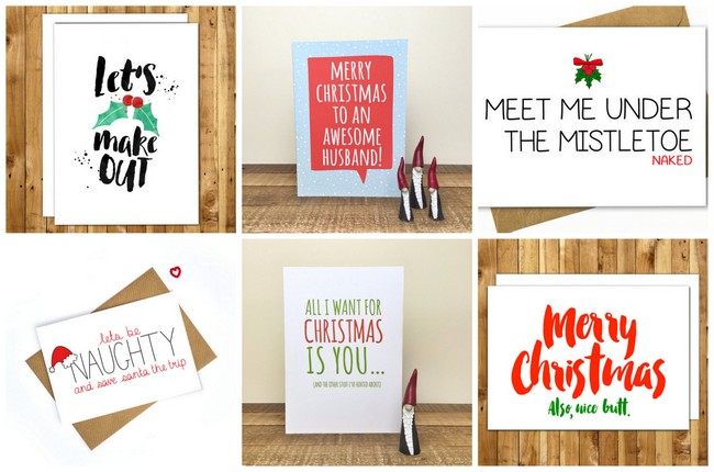 Oh Behave! Naughty But Nice Christmas Cards for Him.