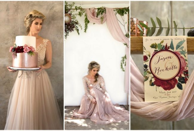 Decor + Details: Copper Burgundy and Blush Wedding {Mooi Photography}