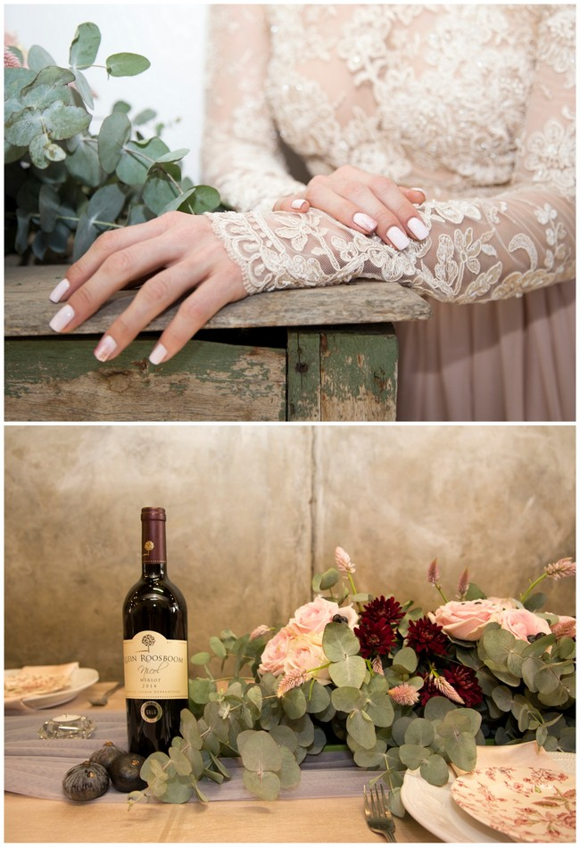 Decor Details Copper Burgundy And Blush Wedding Mooi