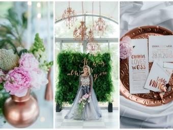 Romantic, Copper, Metallic & Blush Wedding Ideas {Debbie Lourens Photography}