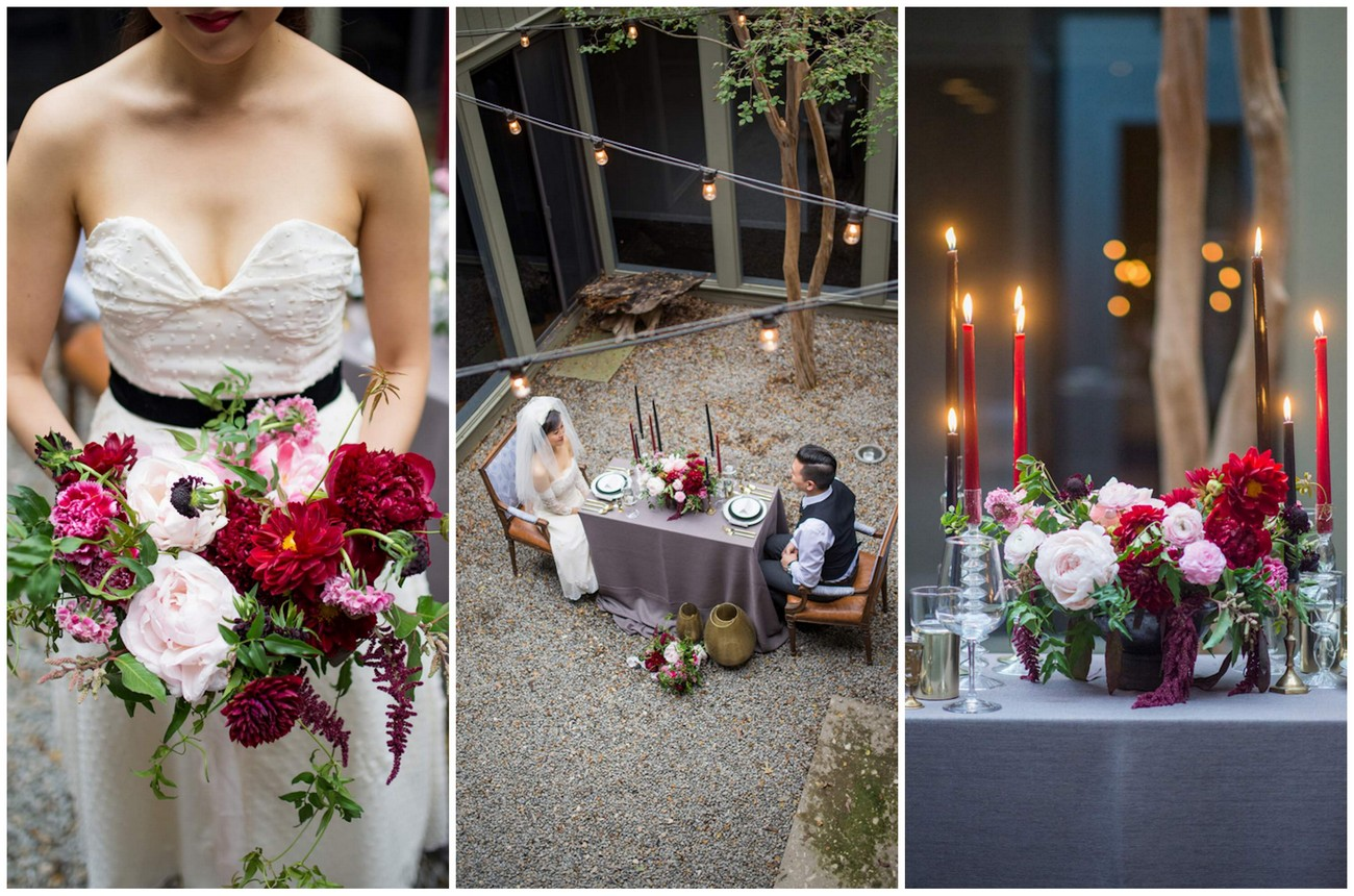 Cranberry + Navy Atrium Rooftop Romance {A. Wonderly Photography}