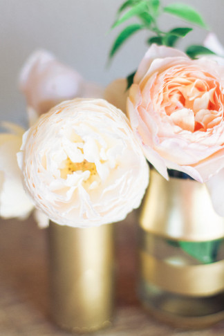 DIY Gold Glitter Bottle Vase 16