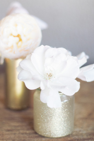 DIY Gold Glitter Bottle Vase 17