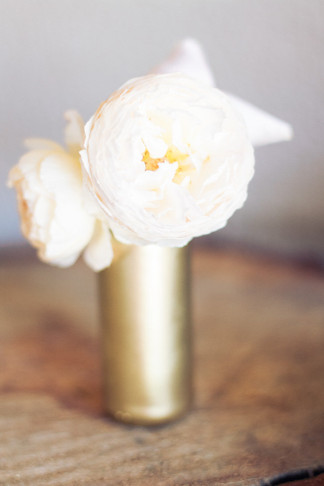 DIY Gold Glitter Bottle Vase 18