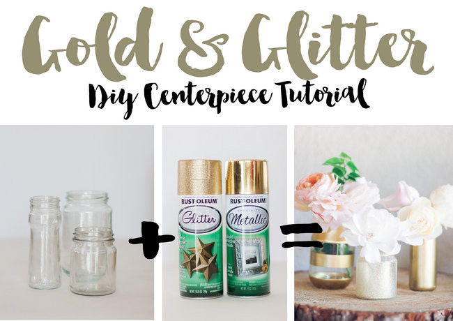 Easy and super stunning DIY Gold Glitter Bottle Vase Tutorial: http://www.confettidaydreams.com/diy-gold-and-glitter-vases-tutorial/