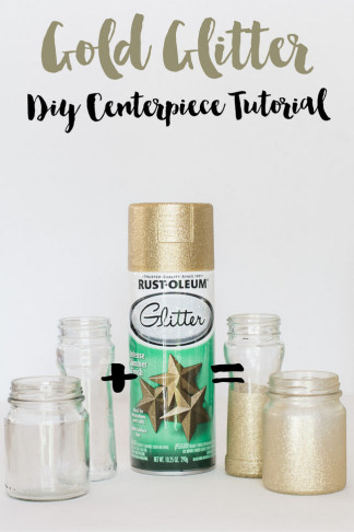 DIY Gold Glitter Bottle Vase 22