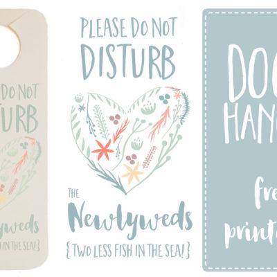 Do Not Disturb the Newlyweds Door Hanger {Free Printable}