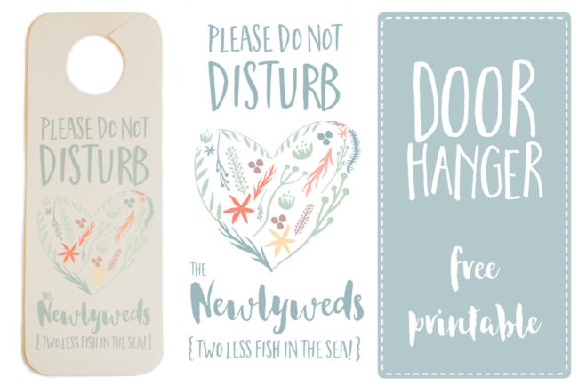 picture about Printable Door Hanger named Do Not Disturb The Newlyweds Doorway Hanger Printable Totally free
