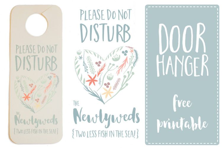 Do Not Disturb the Newlyweds Door Hanger {Free Printable}