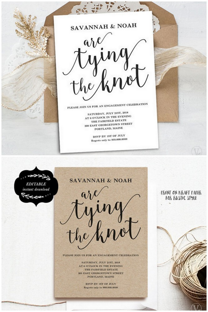 Downloadable Engagement Party Invitation Templates  Engagement Invite Templates