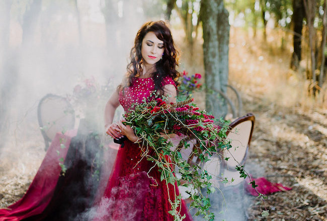 Dramatic Red and Black Forest Wedding {Jana Marnewick Photography}