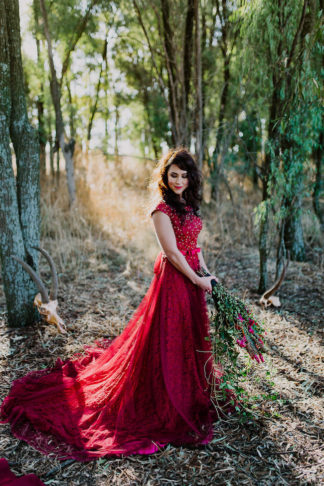 Dramatic black and red forest wedding - Jana Marnewick Photography