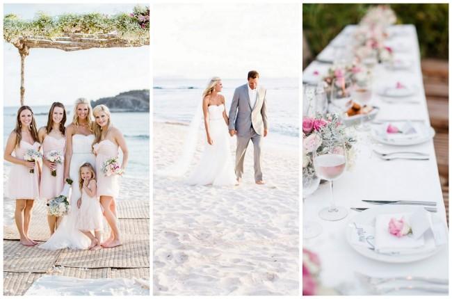 Dreamy Blush Punta Mita Destination Beach Wedding {Caroline Ross Photography}