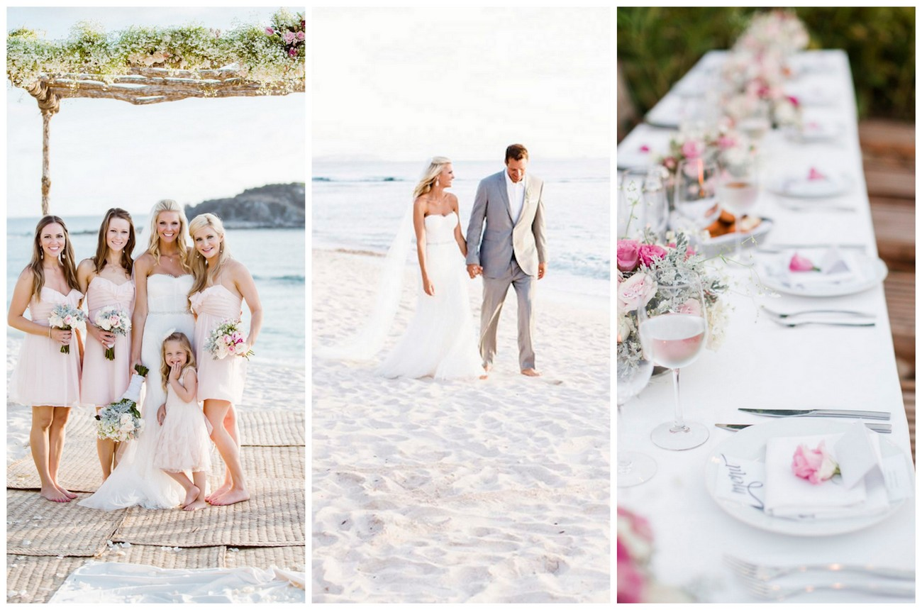 Dreamy Blush Punta Mita Destination Beach Wedding {Caroline Ross Photography}