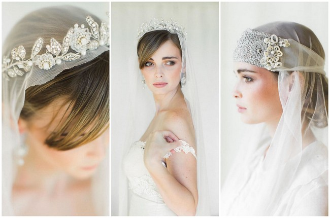 Edera Couture's Elegant Lace Bridal Jewelry & Accessories {Ashley Largesse Photography}