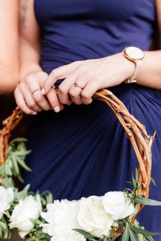 Bridesmaid floral wreath bouquet alternative