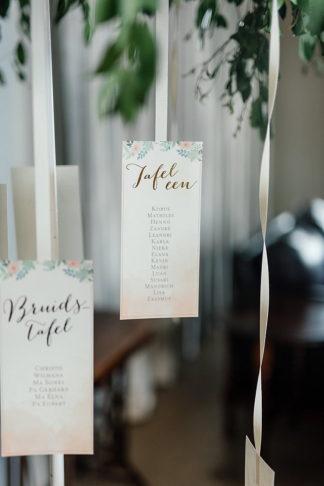 Peach, Copper and Mint wedding reception