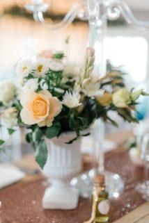 Peach, Copper and Mint Eensgezind Durbanville wedding reception