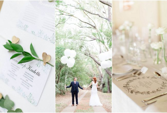 Elegant White + Green Wedding {Carolien & Ben Photography}
