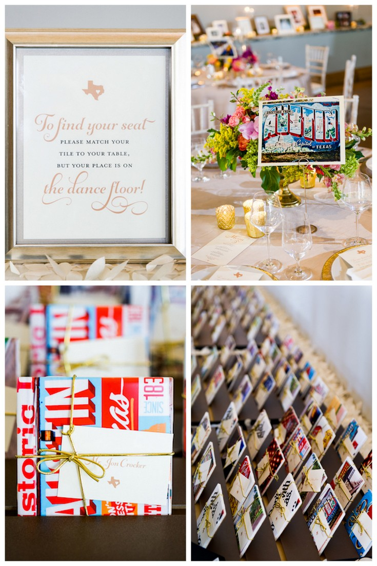 Find your seat tiles wedding favor escort
