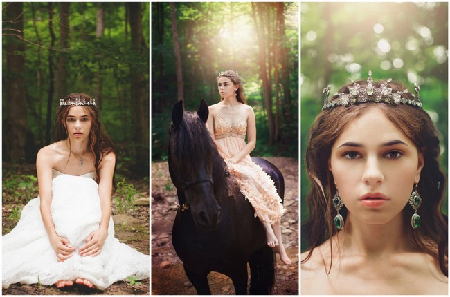 Forest Bride Accessories Handmade by Rabbitwood and Reason {La Candella Weddings}