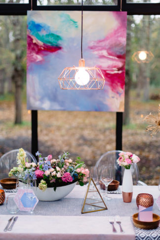 Geometric Wedding Inspiration