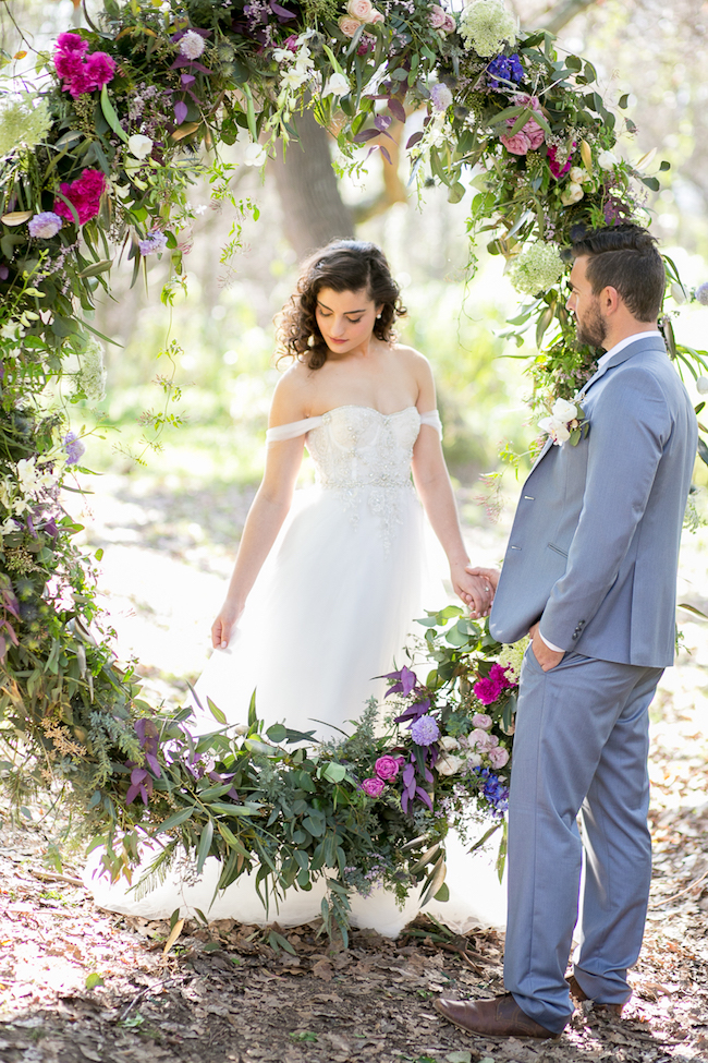 Giant Floral Wedding Ceremony Wreath