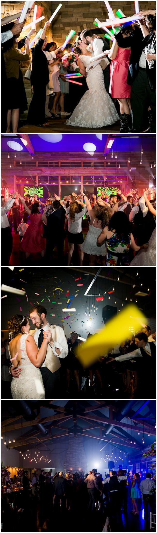Glow stick wedding exit