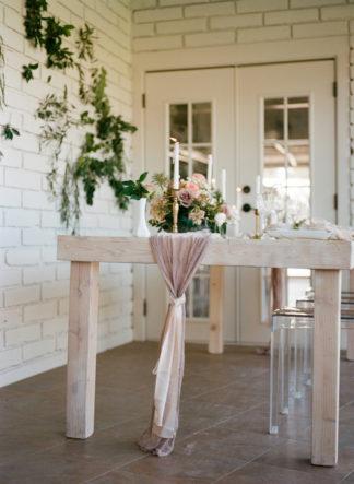 Gold mauve and blush pink wedding