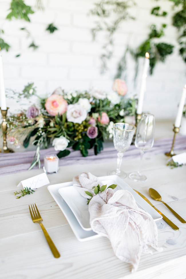 Gold mauve and blush pink wedding