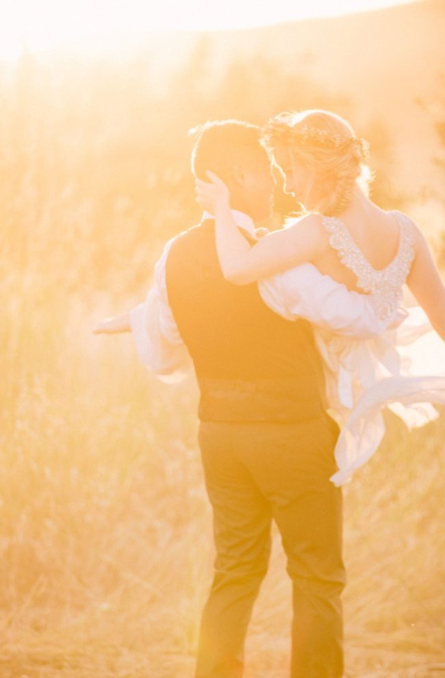Dreamy, Romantic Golden Hour couple portraits by Retrospect Images