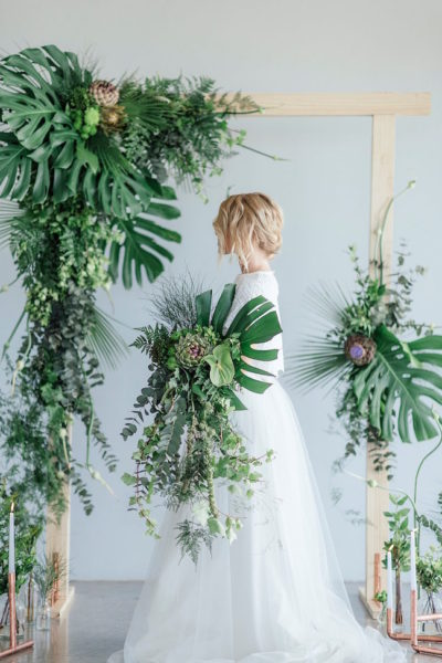 Introducing the Colour of the Year! Greenery and Copper Wedding Ideas {Debbie Lourens}