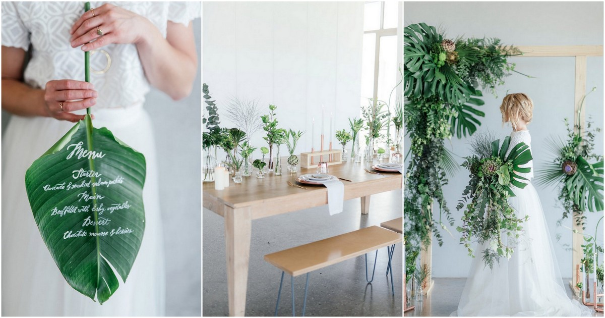 Greenery and Copper Wedding Ideas