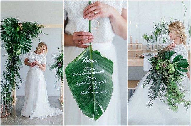 Inspiration + Details: Greenery and Copper Wedding Ideas {Debbie Lourens}