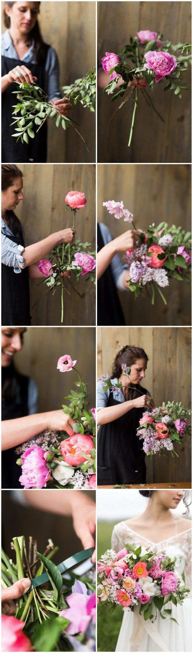 Hand tied garden bouquet tutorial