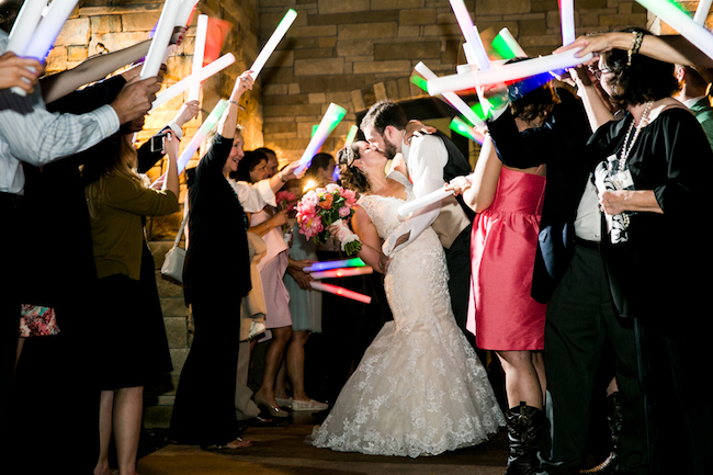 Glow stick wedding exit, Sparkler exit alternative