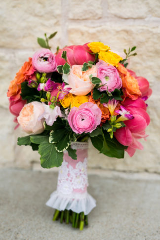 Hot Pink and Gold Peony Wedding