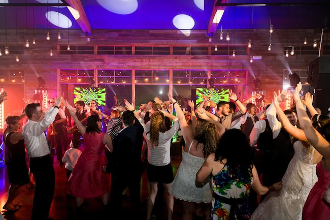 Festival wedding dance floor reception