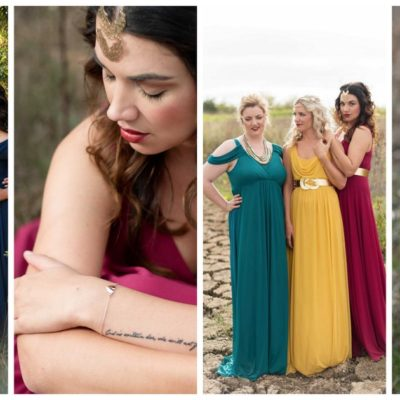 Stylist Tips: How to Mix + Match Winter or Autumn Bridesmaid Dresses.