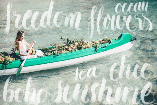Summer Ibiza Wedding in a Canoe of Flowers {Lovers Love Loving}